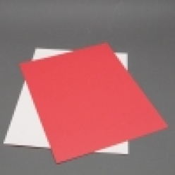 Fluorescent Red 8-1/2x11 Self-Adhesive Label Paper 100/pkg