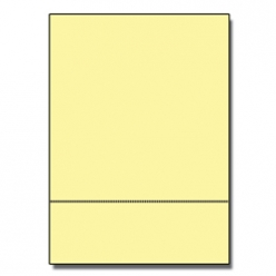 Perforated at 3-1/2 Exact Yellow 8-1/2x11 24lb 500/pkg