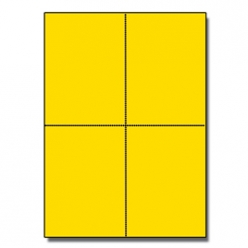 Postcards 4up Astrobright Solar Yellow 1000/pkg