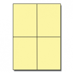 Postcards 4up Yellow 1000/pkg