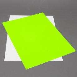 Fluorescent Green 8-1/2x11 Self-Adhesive Label Paper 100/pkg