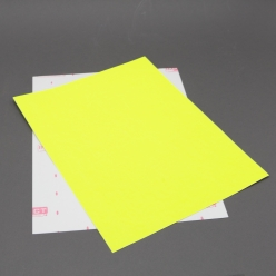 Fluorescent Lime 8-1/2x11 Self-Adhesive Label Paper 100/pkg