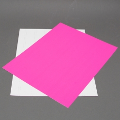 Fluorescent Pink 8-1/2x11 Self-Adhesive Label Paper 100/pkg