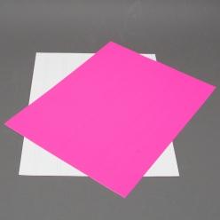 Fluorescent Pink 8-1/2x11 Self-Adhesive Label Paper 100/pkg