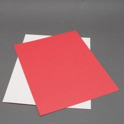 Astrobright Re-Entry Red 8-1/2x11 Label Paper 100/pkg