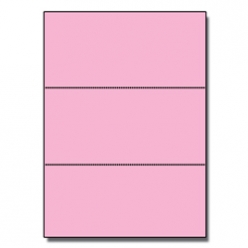 Perforated Every 3-2/3 Bristol Cover Pink 8-1/2x11 67lb 250/pkg