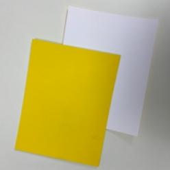 CLOSEOUTS Yellow/White 130lb Duplex Cover 8-1/2x11 125/pkg