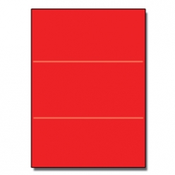 Tri-Fold Brochure 8-1/2x11 65lb Re-Entry Red 250/pkg