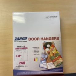 Door Hangers Pre-Perfed 8-1/2x11 3up 250/pkg