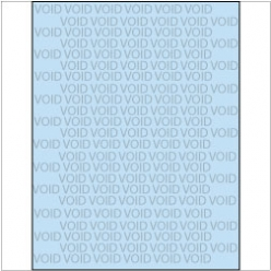 VOID if Copied Paper 8-1/2x11 24lb Blue-Tint 500/pkg