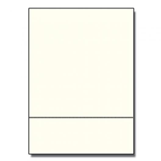 Perforated at 3-2/3 Exact Cream 8-1/2x11 24lb 500/pkg