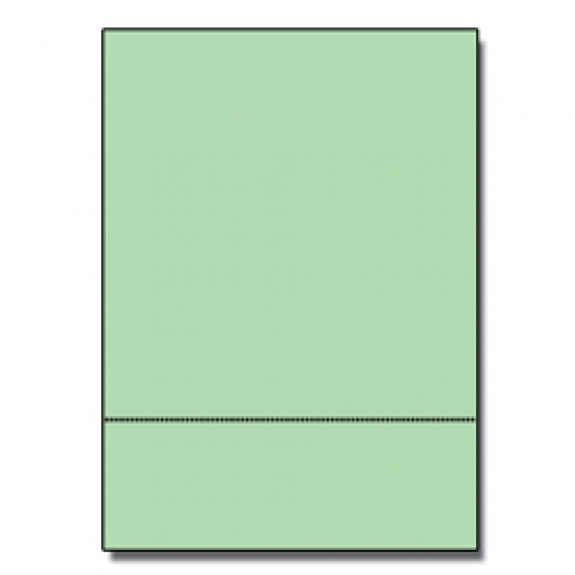 Perforated at 3-2/3 Bristol Cover Green 8-1/2x11 67lb 250/pkg
