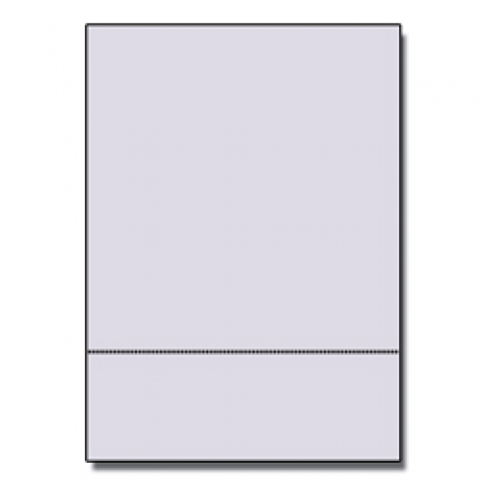 Perforated at 3-1/2 Bristol Cover Gray 8-1/2x11 67lb 250/pkg