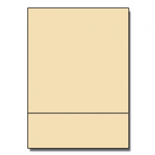 Perforated at 3-1/2 Bristol Cover Ivory 8-1/2x11 67lb 250/pk