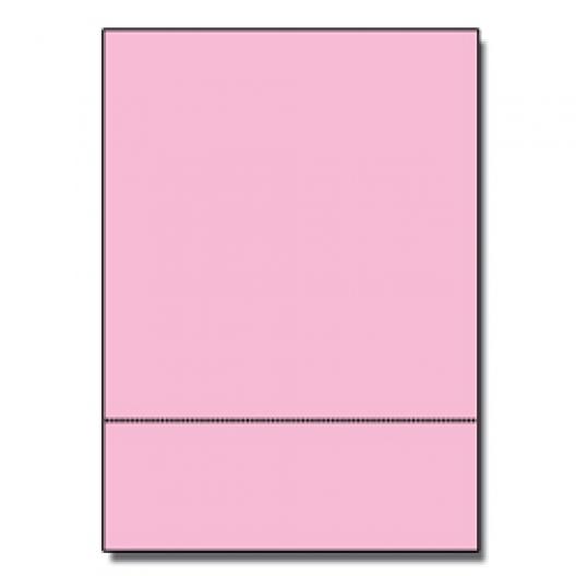Perforated at 3-2/3 Exact Pink 8-1/2x11 24lb 500/pkg
