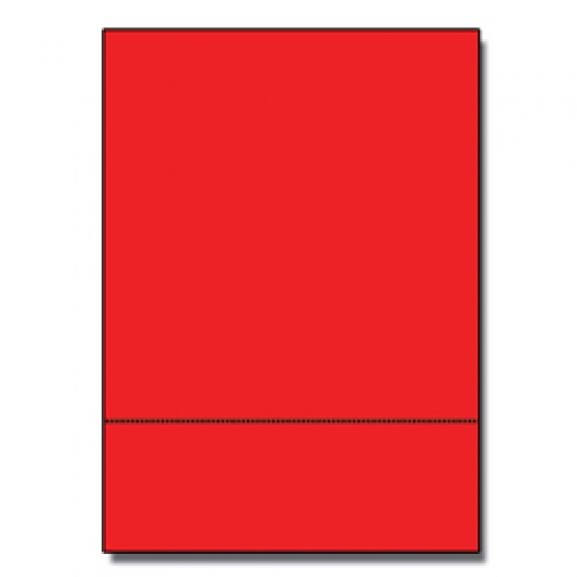 Perf at 3-1/2 Astro 65lb Cover Re-entry Red 8-1/2x11 250/pkg