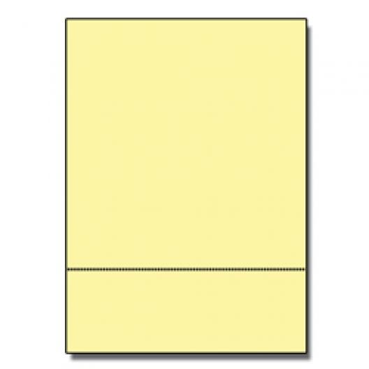 Perforated at 3-1/2 Exact Yellow 8-1/2x11 24lb 500/pkg
