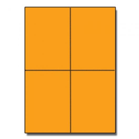 Postcards 4up Astrobright Cosmic Orange 1000/pkg