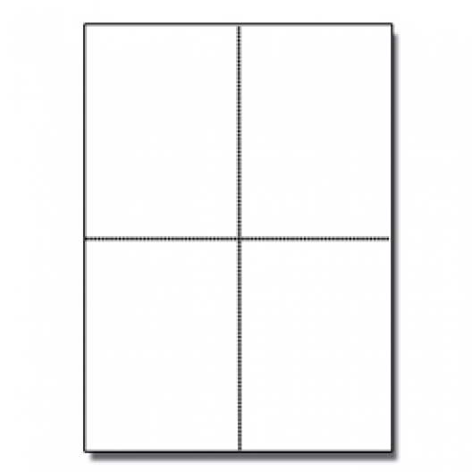 Postcards 4up Classic Crest Natural White 65lb 1000/pkg