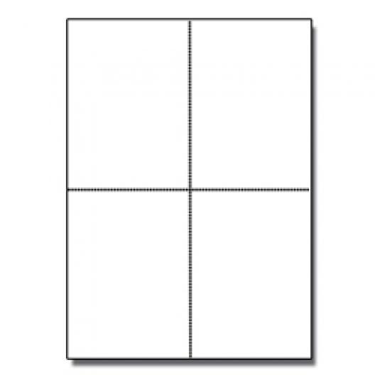 Postcards 4up  White 1000/pkg