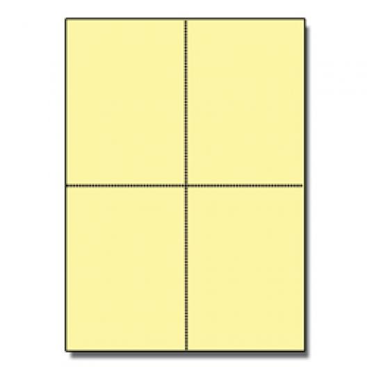 Postcards 4up Yellow 1000/pkg