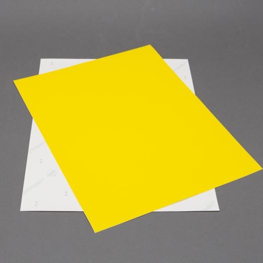 Astrobright Solar Yellow 8-1/2x11 Label Paper 100/pkg