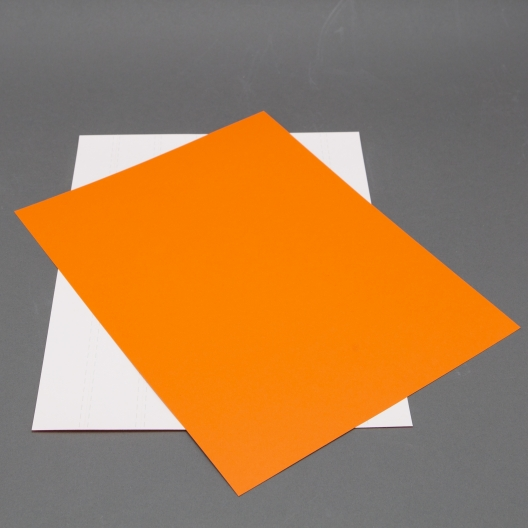 Astrobright Orbit Orange 8-1/2x11 Label Paper 100/pkg