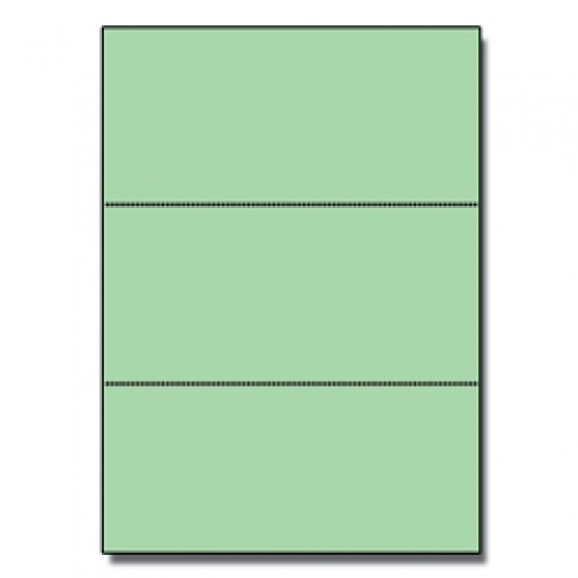 Perforated Every 3-2/3 Bristol Cover Green 8-1/2x11 67lb 250/pkg