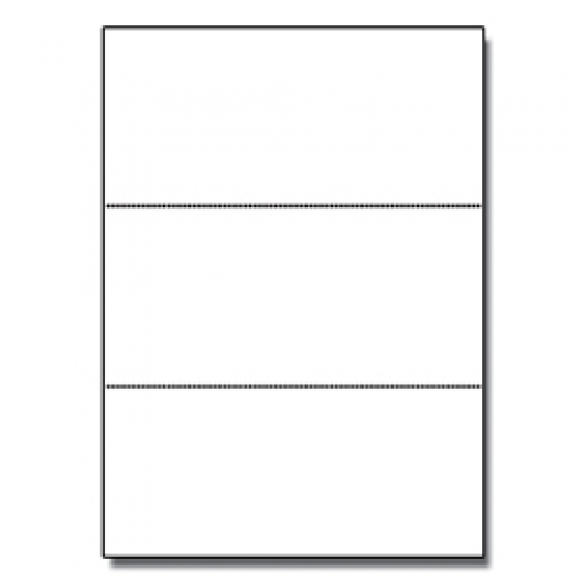Perforated Every 3-2/3 Bristol Cover White 8-1/2x11 67lb 250/pkg