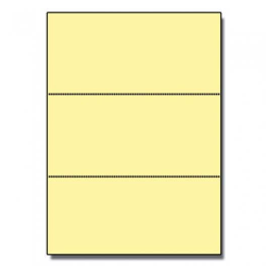 Perforated Every 3-2/3 Bristol Cover Yellow 8.5x11 67lb 250p