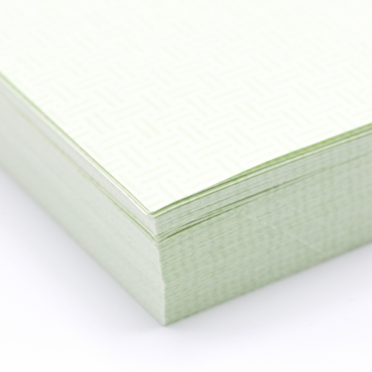 Perforated at 3-1/2 Check Paper Green 8-1/2x11 24lb 500/pkg