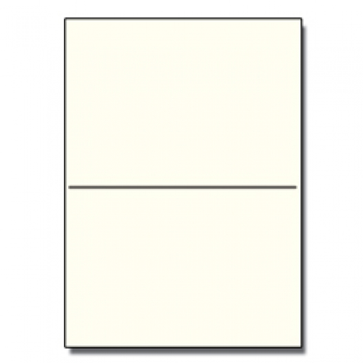 Perforated at 5-1/2 Bristol Cover Cream 8-1/2x11 67lb 250/pk