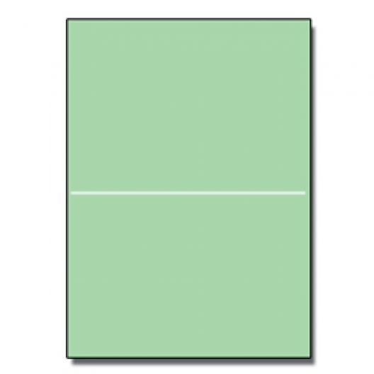 Perforated at 5-1/2 Bristol Cover Green 8-1/2x11 67lb 250/pk