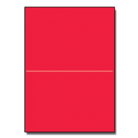 Perf at 5-1/2 Astro 65lb Cover Re-entry Red 8-1/2x11 250/pkg