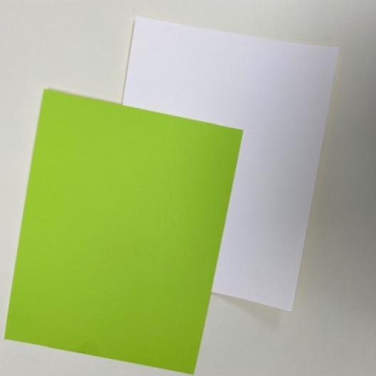 CLOSEOUTS Green/White 130lb Duplex Cover 8-1/2x11 125/pkg