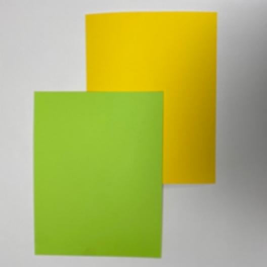 CLOSEOUTS Green/Yellow 130lb Duplex Cover 8-1/2x11 125/pkg