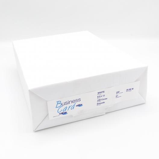 Paperworks BC Cover 8-1/2x11 100lb Solar White 250/pkg