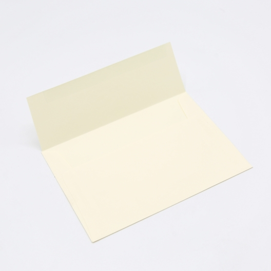 Crane's Lettra Ecru 4 Bar Envelope Square Flap 50pkg