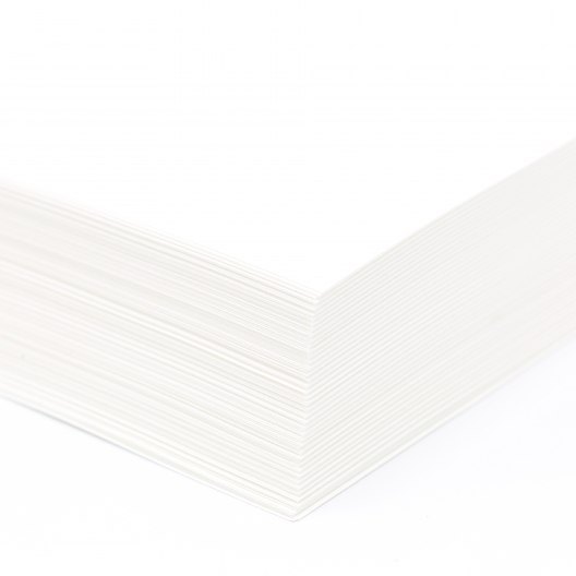 Perforated at 3-1/2 Bristol Cover White 8-1/2x11 67lb 250/pk