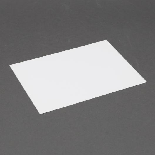 Platinum Lee size White Plain Card 5-1/8x7 250/box
