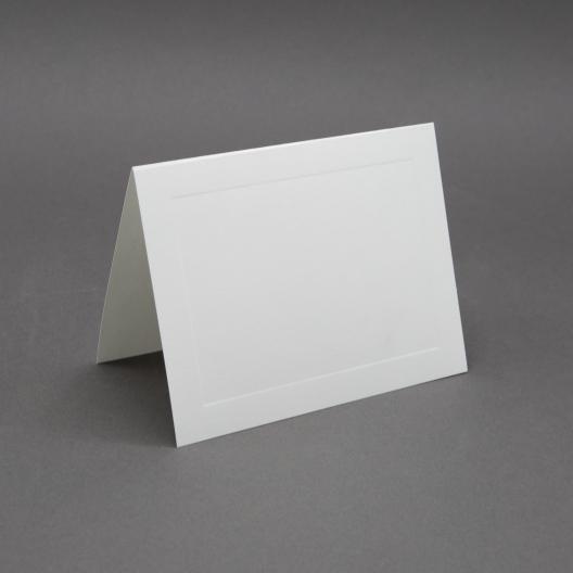 Crest 4 Baronial White Panel Folder [3-1/2x4-7/8] 250/box