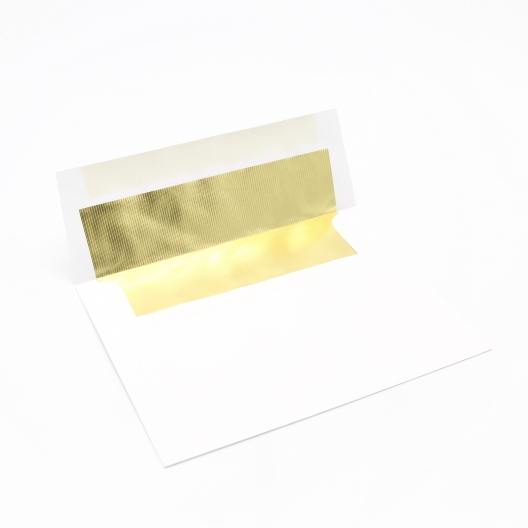 Foil Lined Gold A-6 Envelope [4-3/4x6-1/2] 50/pkg