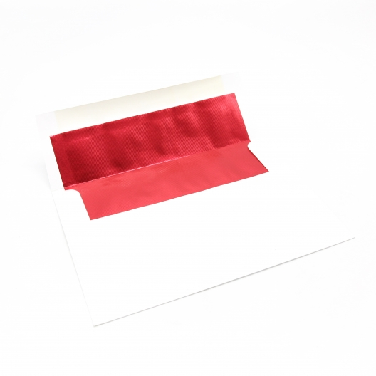 CLOSEOUTS Foil Lined Red A-9 Envelope[5-3/4x8-3/4] 250/box