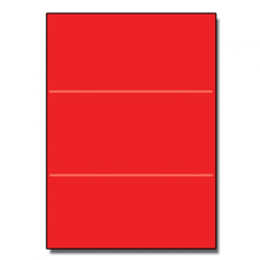 Tri-Fold Brochure 8-1/2x11 65lb Re-Entry Red 250/pkg