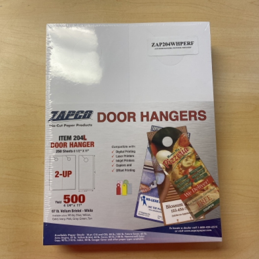 Door Hangers Pre-Perfed 8-1/2x11 2up 250/pkg