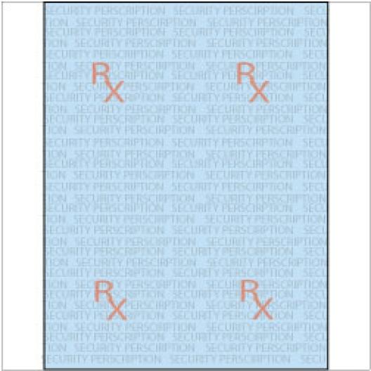 Rx Prescription Paper 8-1/2x11 24lb Blue-Tint 2500/FULL-CASE