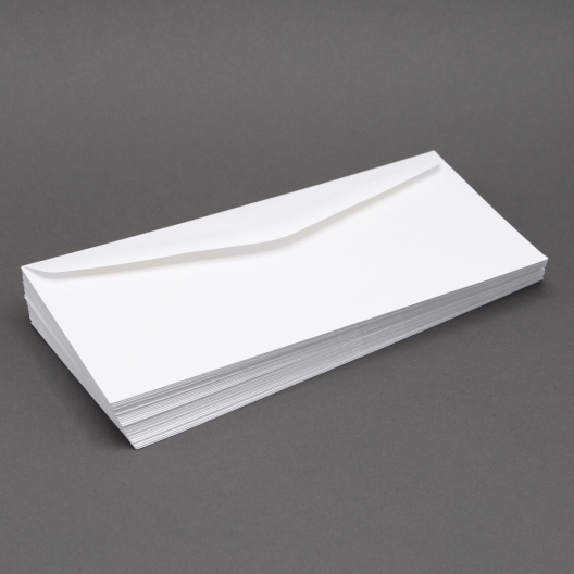 White Wove #9-24lb Regular Envelope 500/box