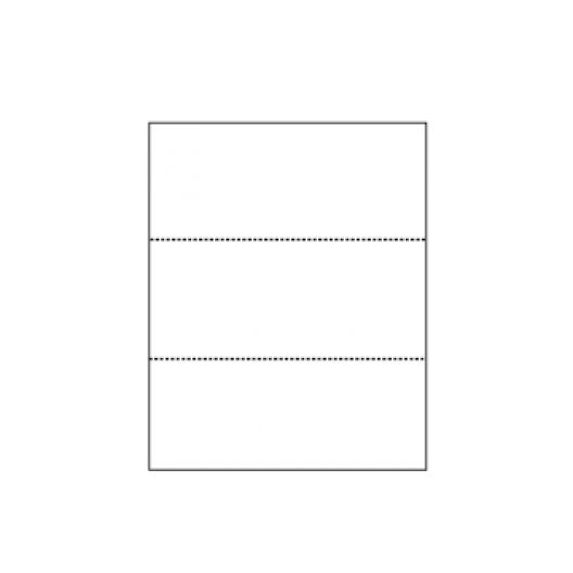 Perforated Every 3-2/3 Exact Cream 8-1/2x11 24lb 500/pkg