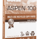 Aspen White 100% Recycled Copy Paper 8-1/2x11 20lb 500 pkg