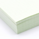 Perforated at 3-2/3 Check Paper Green 8-1/2x11 24lb 500/pkg